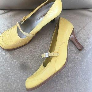 Tommy Hilfiger Yellow Leather Maryjane